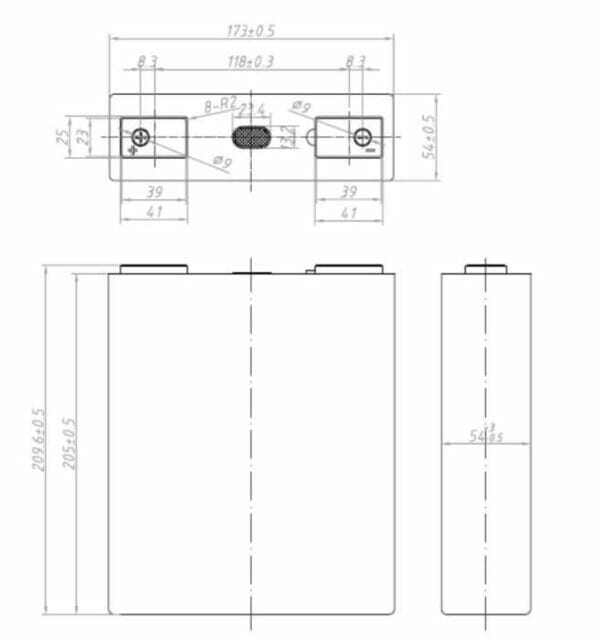 Lishen 202Ah 3,2V LiFePO4 batteri