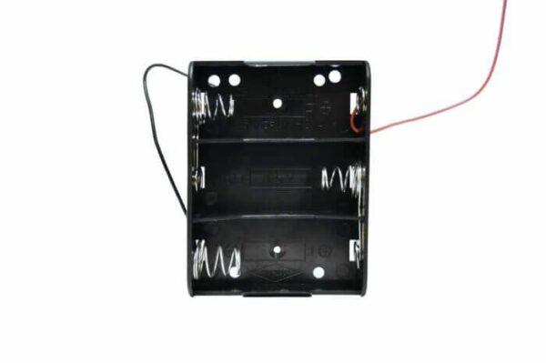 Batteriholder C X3 4,5V med ledninger