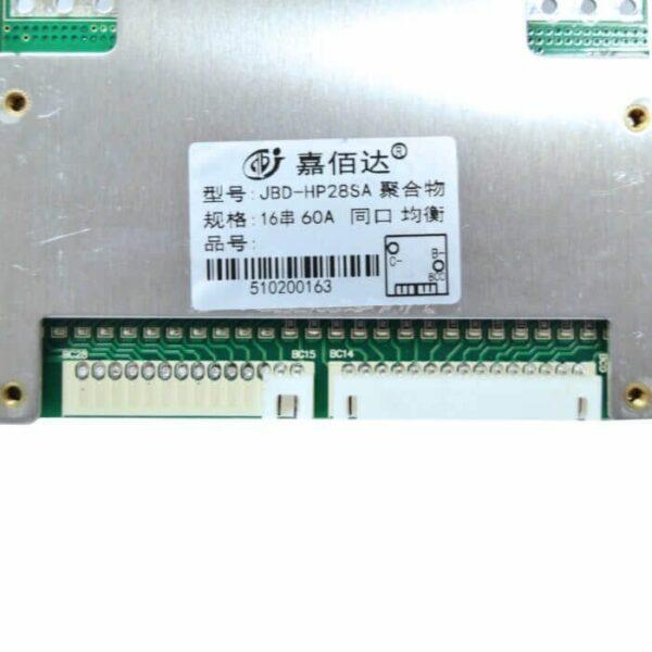 BMS 16S 60A 59,2V PCB til Li-ion/Li-Po Common port