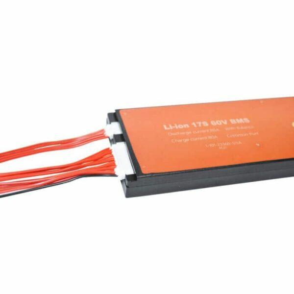 BMS 17S 80A PCB til Li-ion/Li-Po 62,9V common port