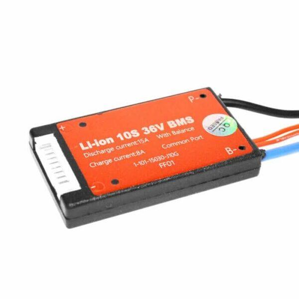 BMS 10S 15A PCB til Li-ion/Li-Po 36V m/ tænd/sluk