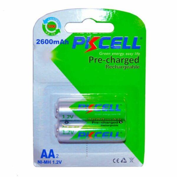 2 STK PKCELL AA batterier NiMH Genopladelige