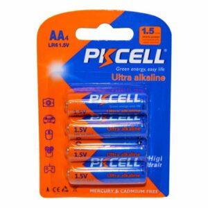 4 STK PKCELL AA batterier alkaline